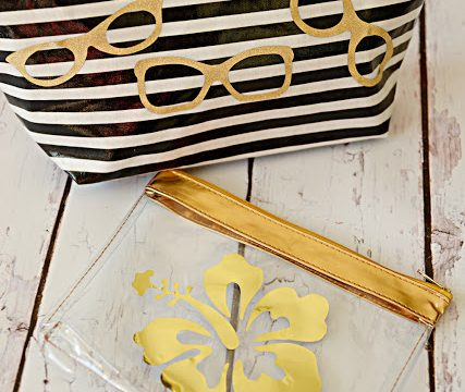 Purse Pouches with Gold Accents
