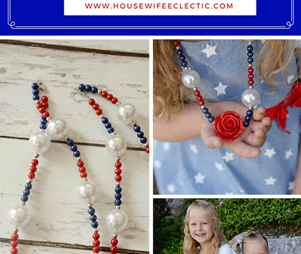 Easy Red, White and Blue Bubble Necklaces