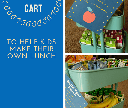 Kids Lunch Cart- To Help Kids Make Their Own Lunch