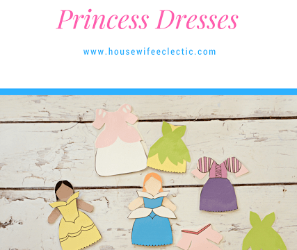 Paper Doll with Princess Dresses