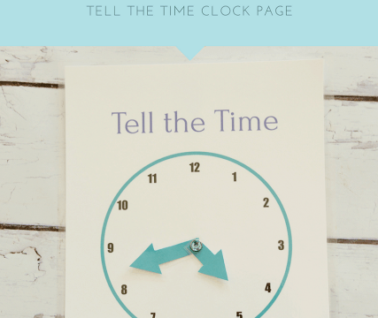 Printable Quiet Book- Clock