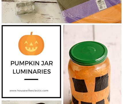 Pumpkin Jar Luminaries