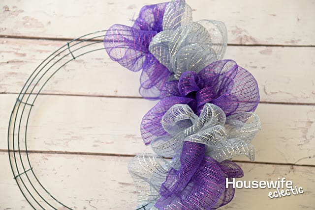 Partial Deco Mesh Wreath
