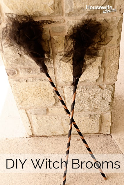Easy diy witch brooms for a witch costume!