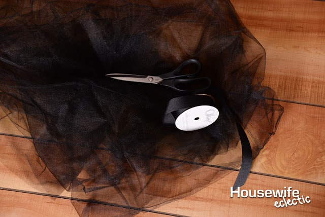 Tulle for a diy witch brooms