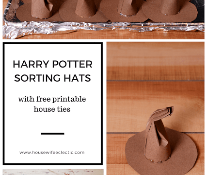 Harry Potter Sorting Hats and Printable Ties