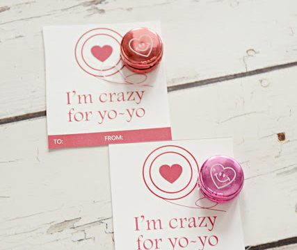 I'm Crazy for Yo-Yo Valentine with Free Printable