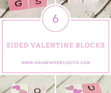 6 Sided Valentine Blocks