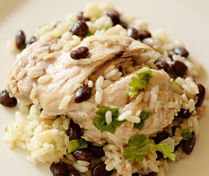 Cilantro Lime Beans and Rice