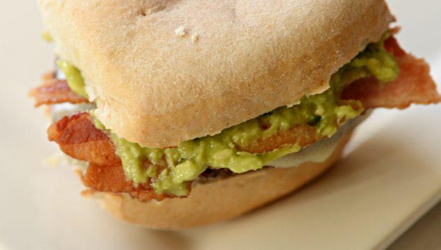 Gluten Free Guacamole Bacon Burger