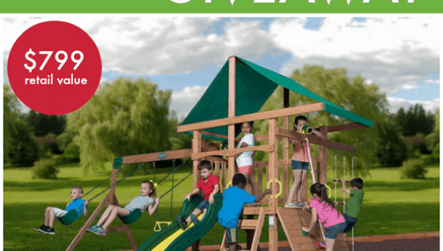 Backyard Discovery's wooden swing set giveaway!