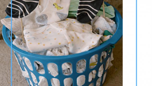 Laundry Basket Diaper Cake