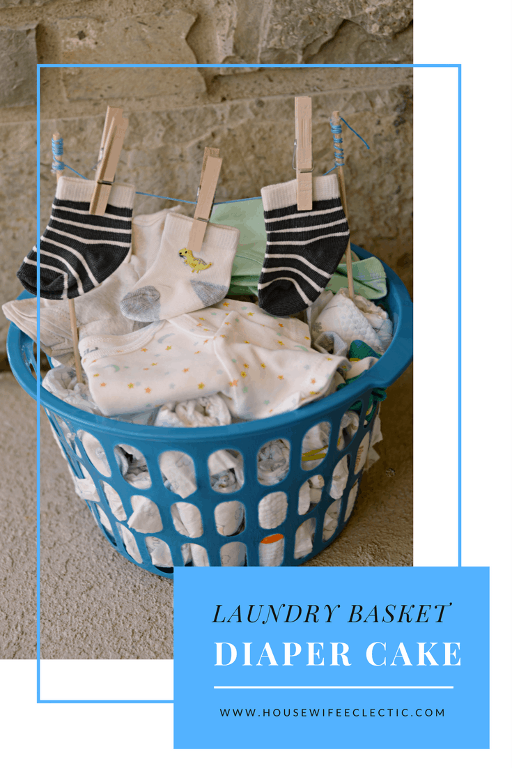 Laundry Basket Diaper Cake Housewife Eclectic