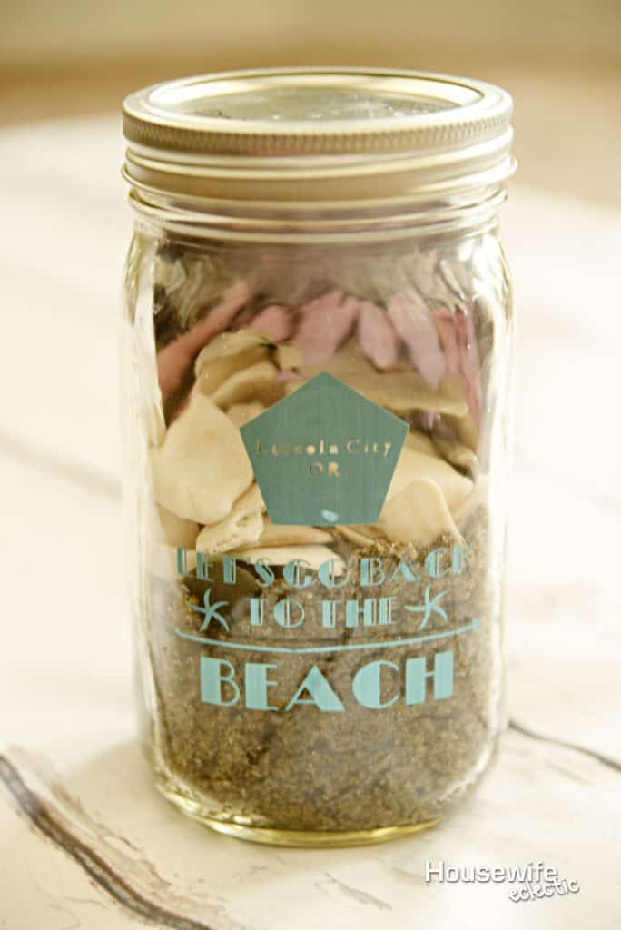 Beach Memory Jar A Cricut Make It Now Project Housewife Eclectic