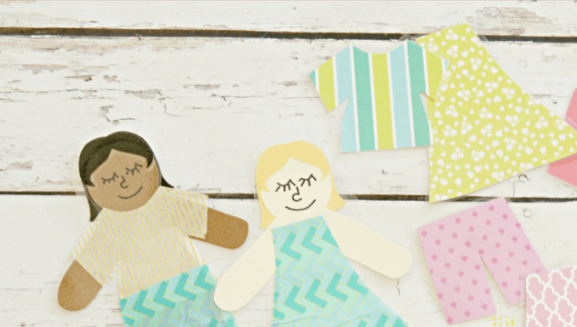 Easy Paper Dolls With Washi Tape Clothing