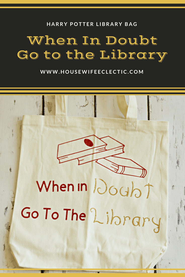 When It Doubt Go To The Library Tote Bag With Step By Step