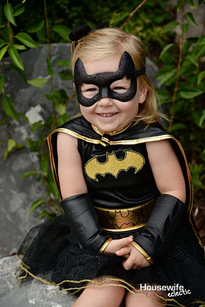 This Darling and sparkly Batman costume is perfect for the Bat Girl in your life!