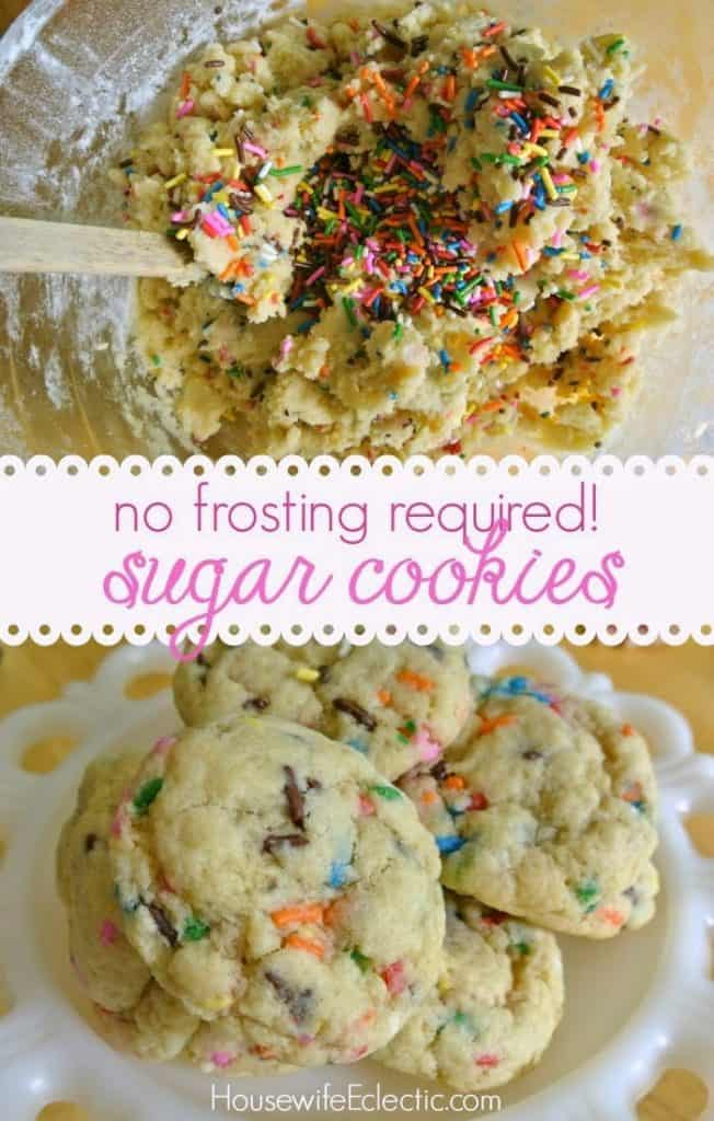 The easiest sugar cookies, no frosting needed!