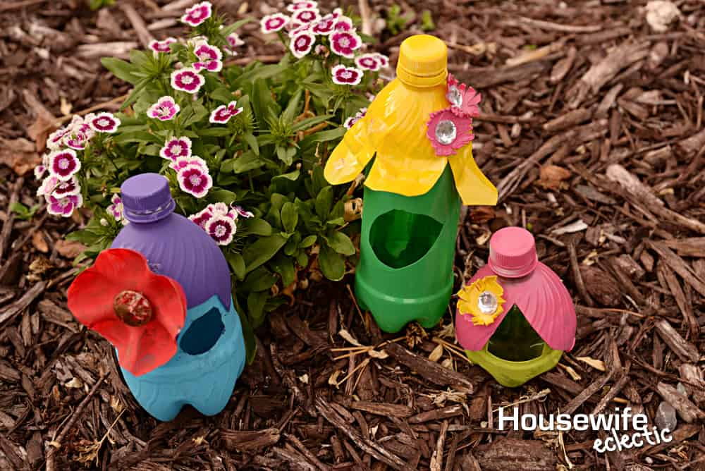 How To Make Fairy Houses Out Of Plastic Bottles - Easy Craft