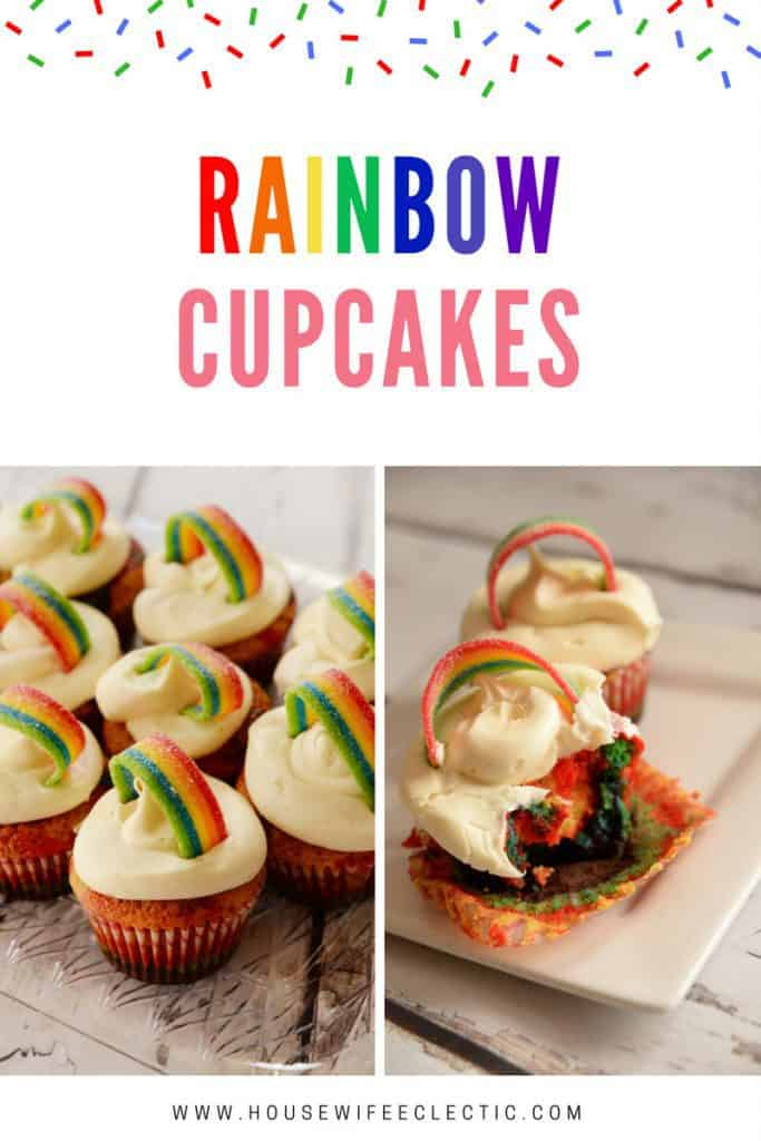 Gorgeous Rainbow Cupcakes with Cloud like Frosting