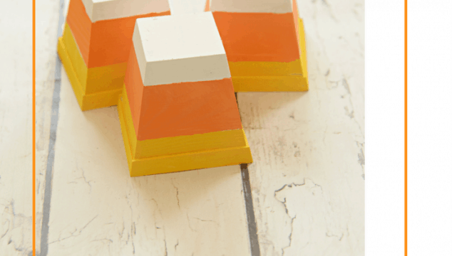 Candy Corn Decor From Pots
