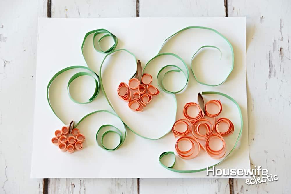 Fall Bucket List : Paper Curled Pumpkins