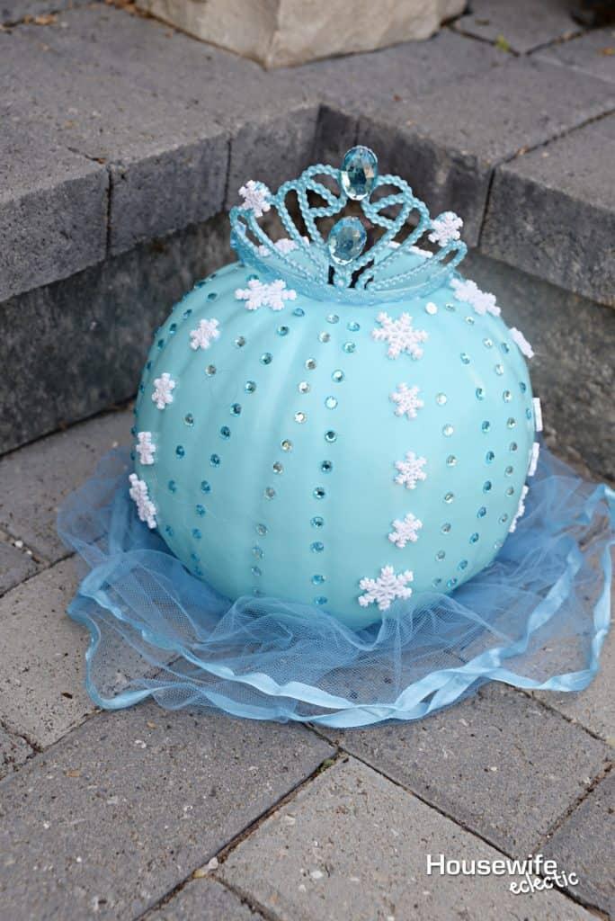 No Carve Frozen Pumpkins - Elsa Pumpkin