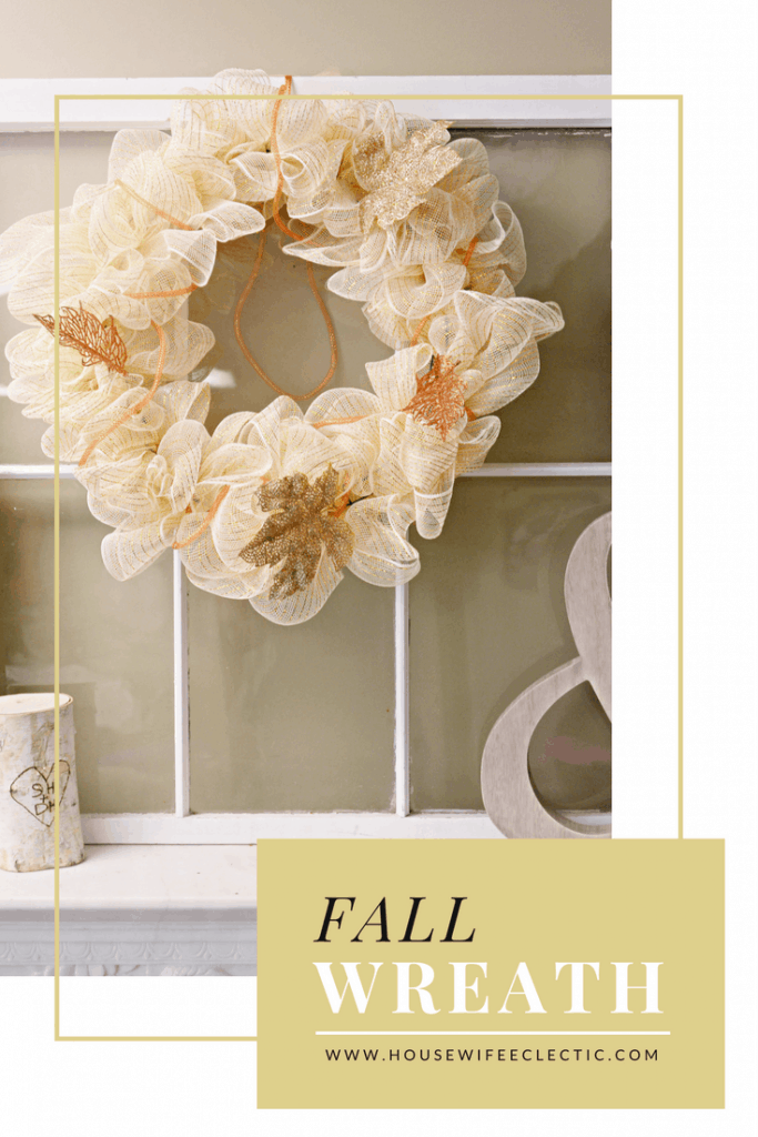 Easy DIY Deco Mesh Fall Wreath