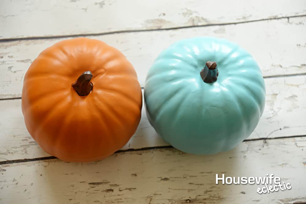 No Carve Frozen Pumpkins - Orange and Teal Pumpkin