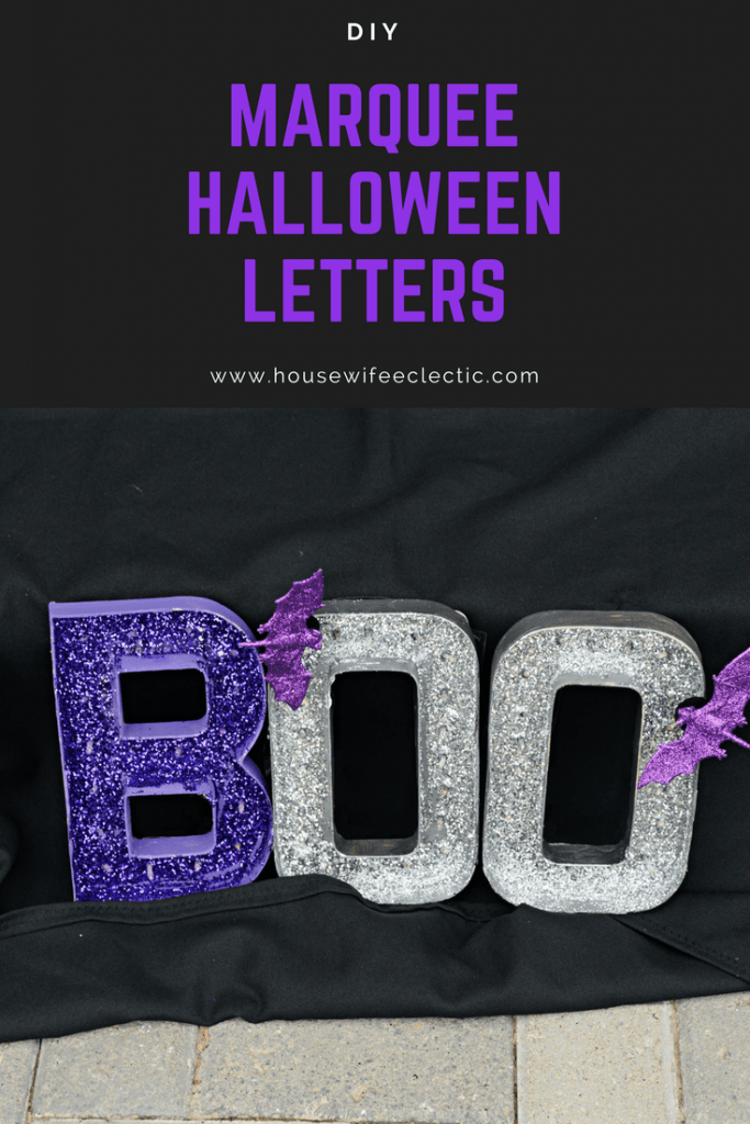 DIY Marquee Letters : Halloween Glitter Letters
