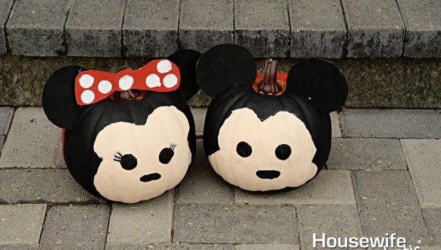 Mickey and Minnie Tsum Tsum Pumpkins