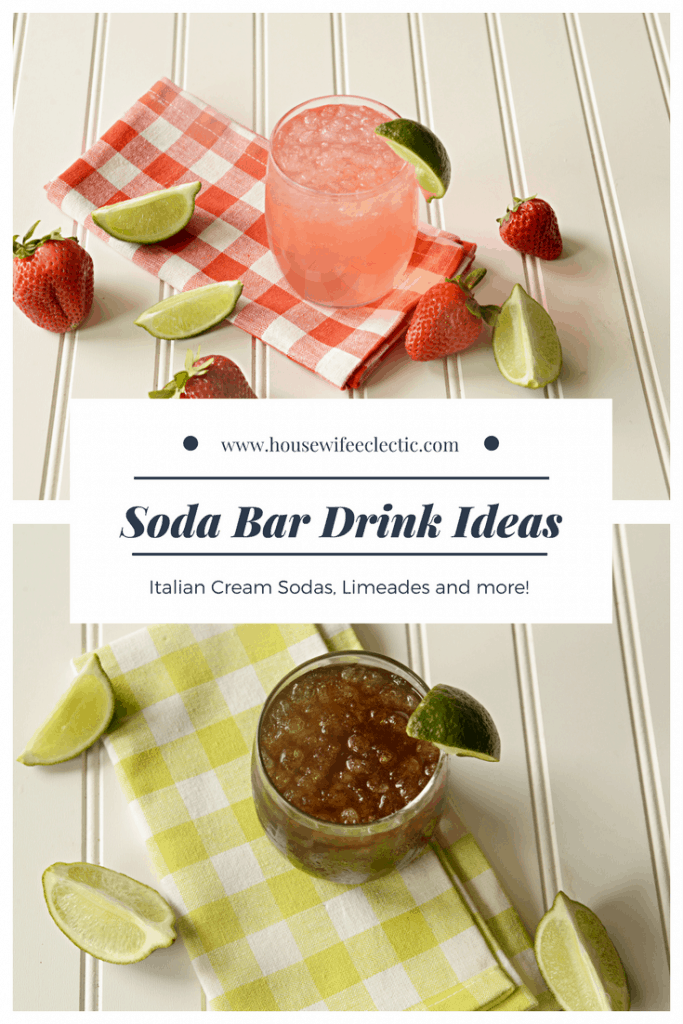 Soda Bar Drink Ideas: Delicious Soda Bar Drinks Including Italian Cream Sodas and Limeades