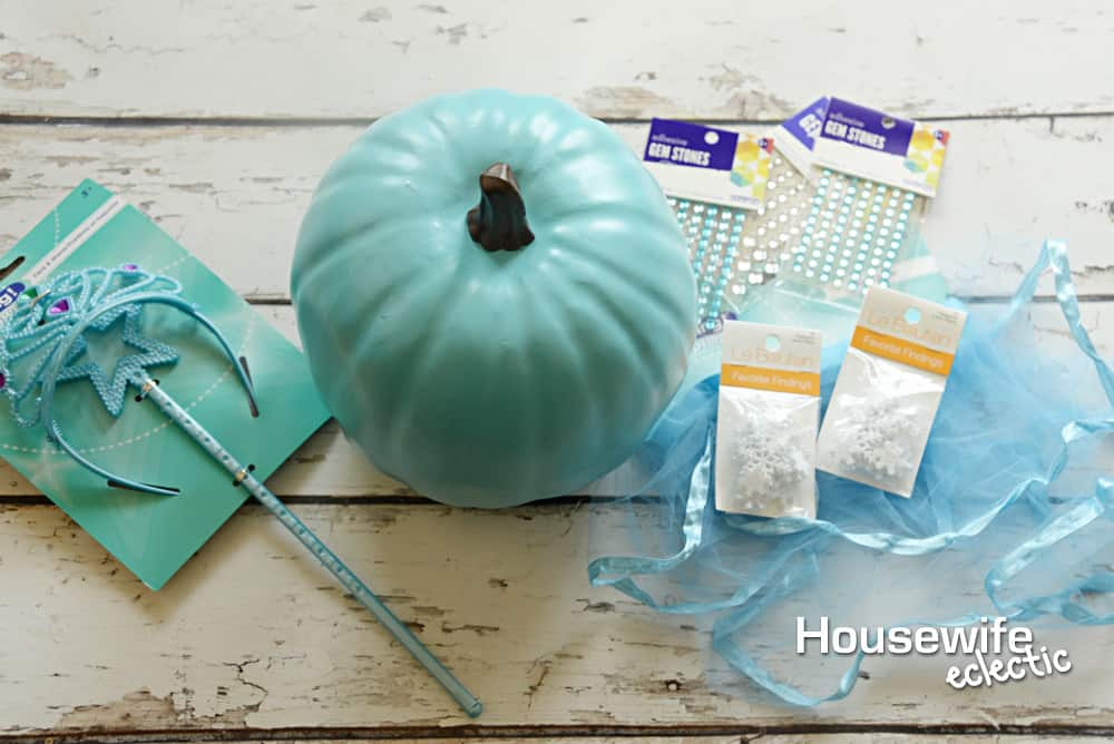 No Carve Frozen Pumpkins - Elsa Pumpkin Supplies