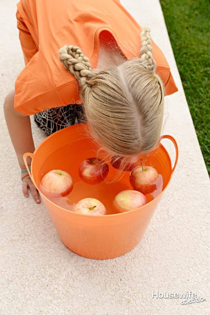 Halloween Party Games: Bobbing for Apples