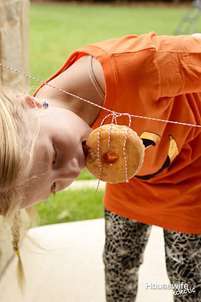 Halloween Party Games: Donut Race