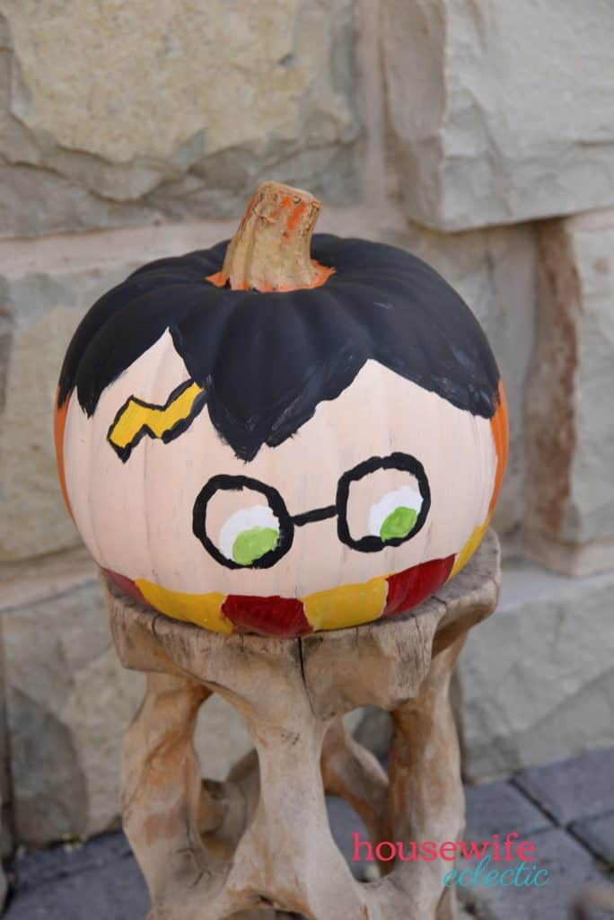 Harry Potter & Hedwig Pumpkins : Harry Potter pumpkin