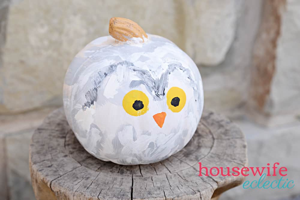 Harry Potter & Hedwig Pumpkins : Hedwig Owl Pumpkin