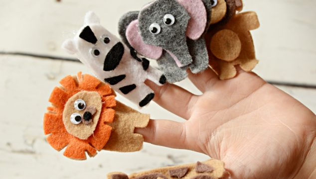 Felt Jungle Finger Puppets with the Cricut Maker
