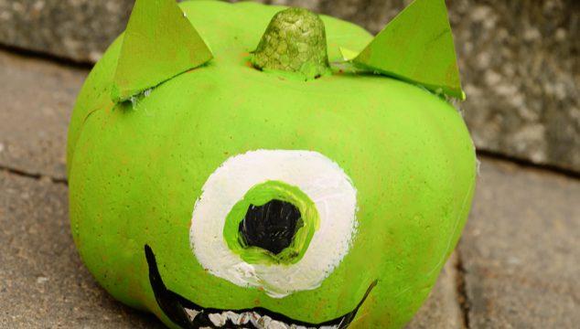 Mike Wazowski No Carve Pumpkin