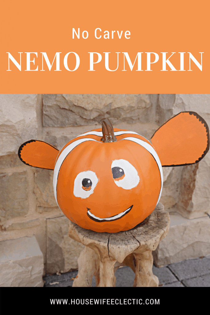 Finding Nemo pumpkin : A No Carve Disney Pumpkin