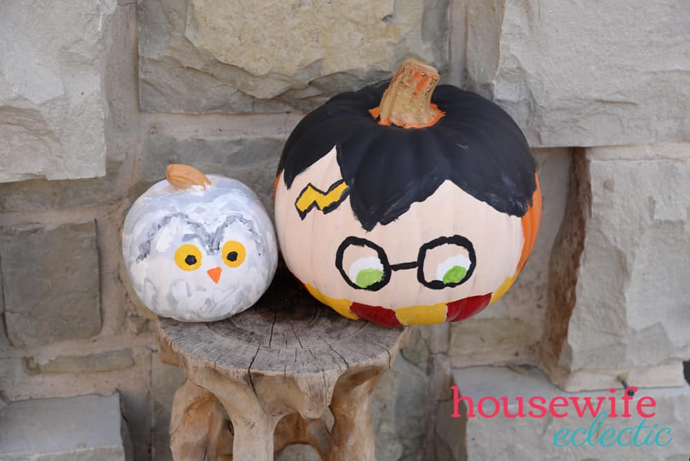 Harry Potter & Hedwig Pumpkins : Easy No Carve Pumpkins