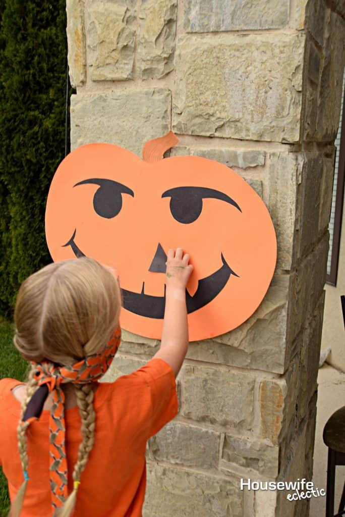 Halloween Party Games: Pin the Nose on the Pumpkin