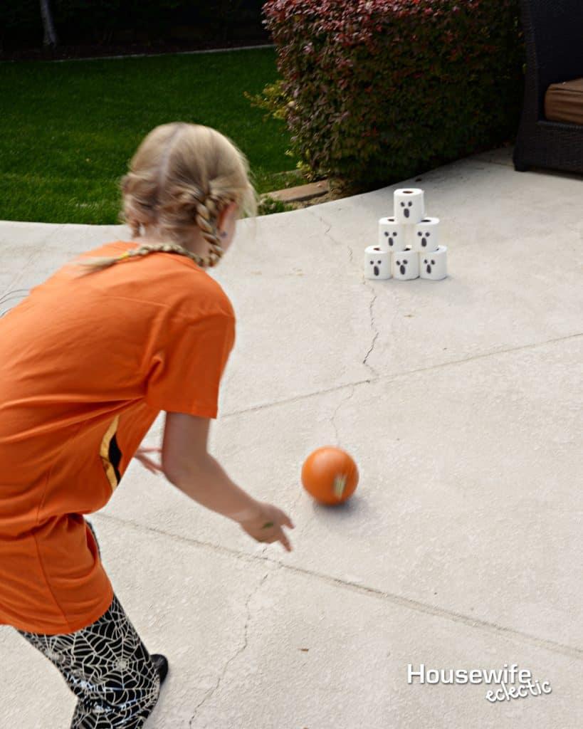 Halloween Party Games: Pumpkin Bowling