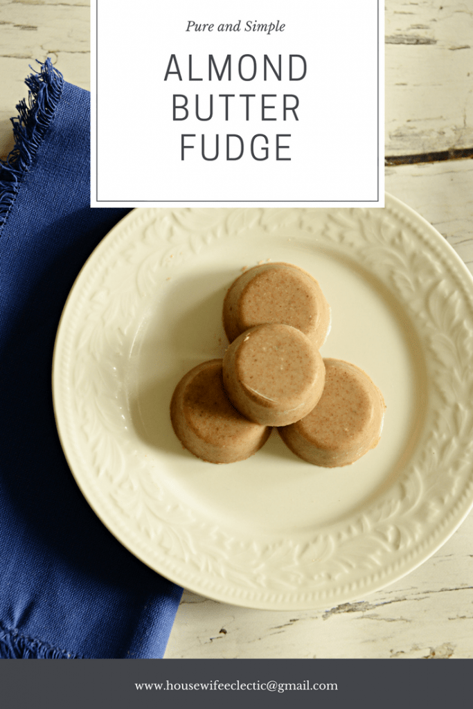 Pure and Simple Almond Butter Fudge