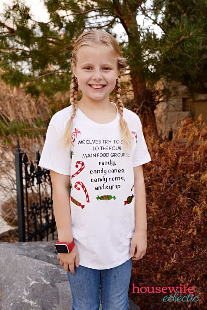 Elf Shirts : Candy Food Groups