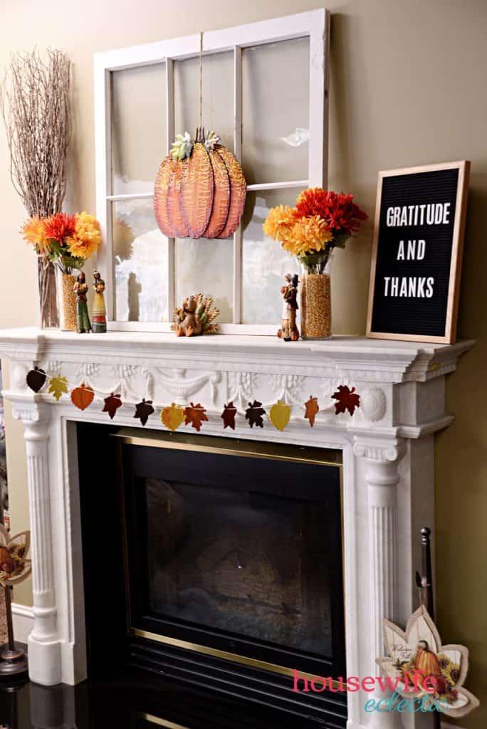 Fall Leaf Garland : Fall mantel