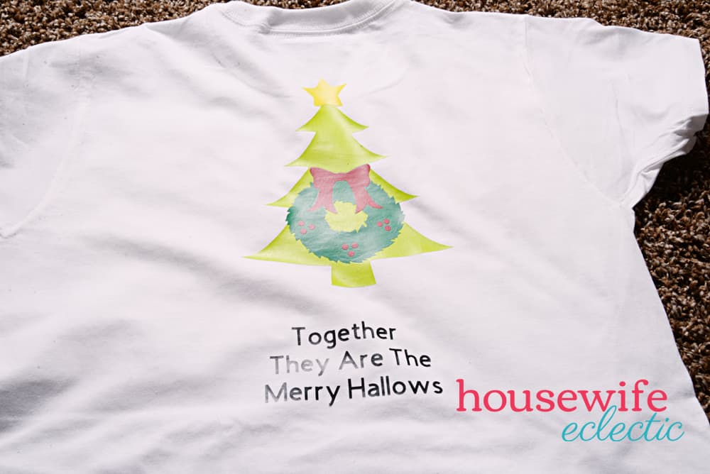 Harry Potter Merry Hallows DIY Shirt