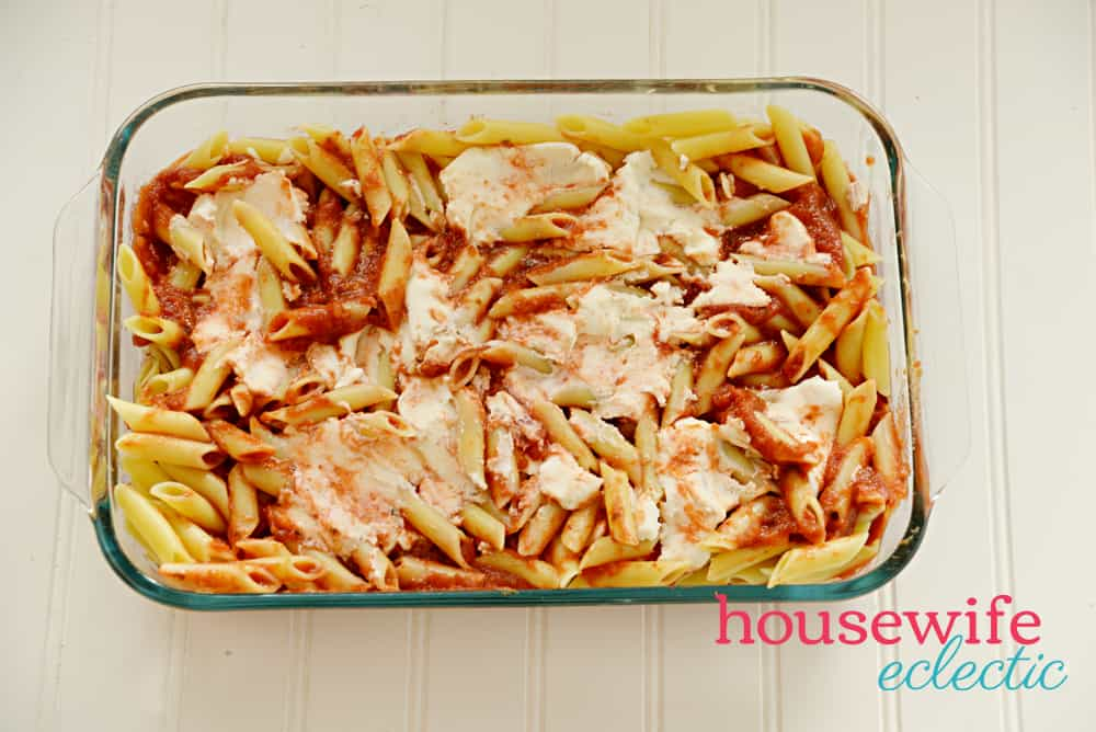 Chicken Parmesan Baked Ziti with Ricotta