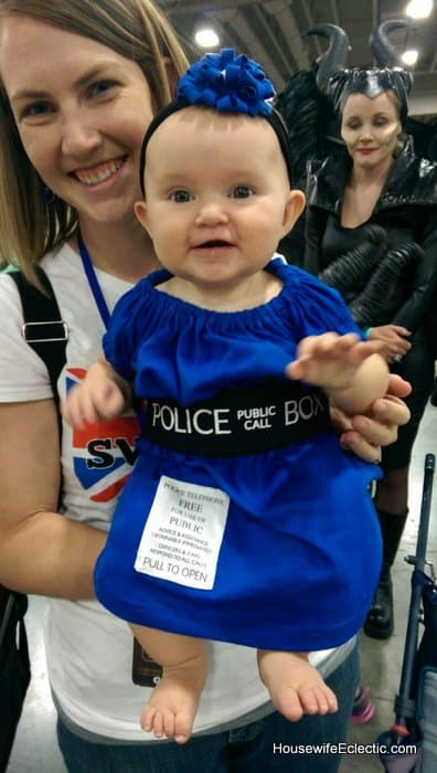 easy baby girls TARDIS dress from a tshirt HousewifeEclectic