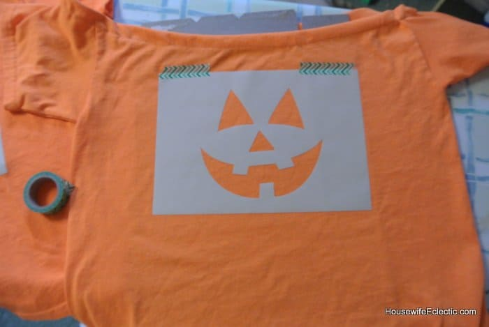 easy orange pumpkin jackolantern dress for girls from a tshirt HousewifeEclectic (19)
